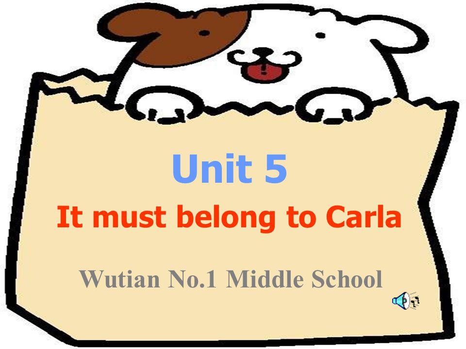 Unit 5 It must belong to Carla Wutian No.1 Middle School