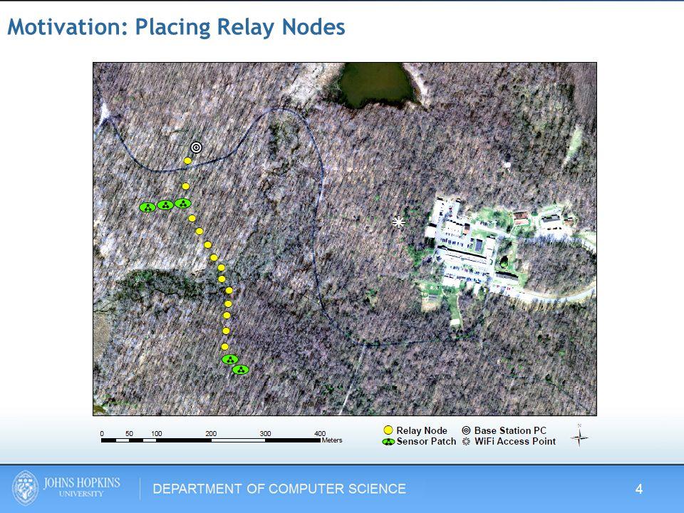 Motivation: Placing Relay Nodes 4