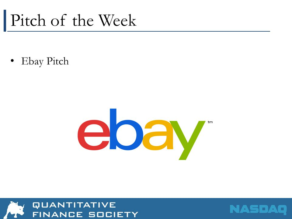 Pitch of the Week Ebay Pitch