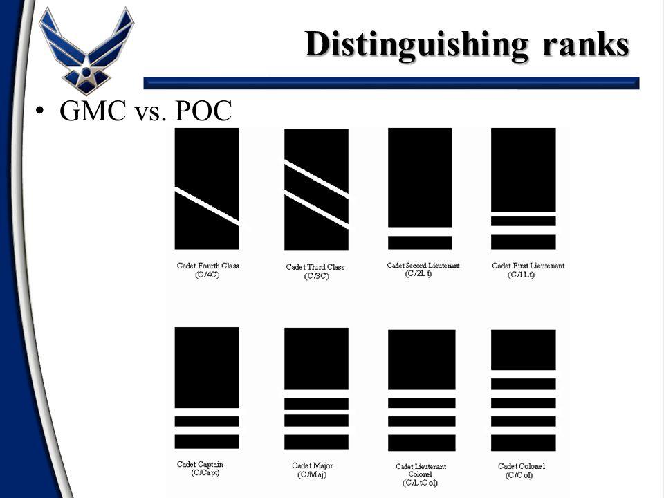 GMC vs. POC Distinguishing ranks