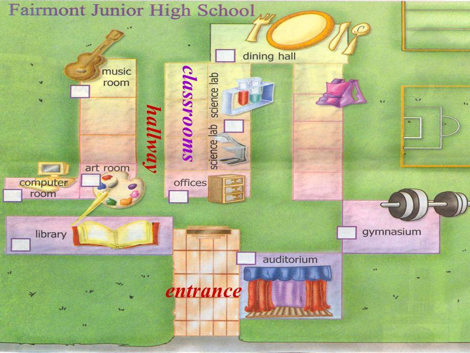 entrance classrooms hallway