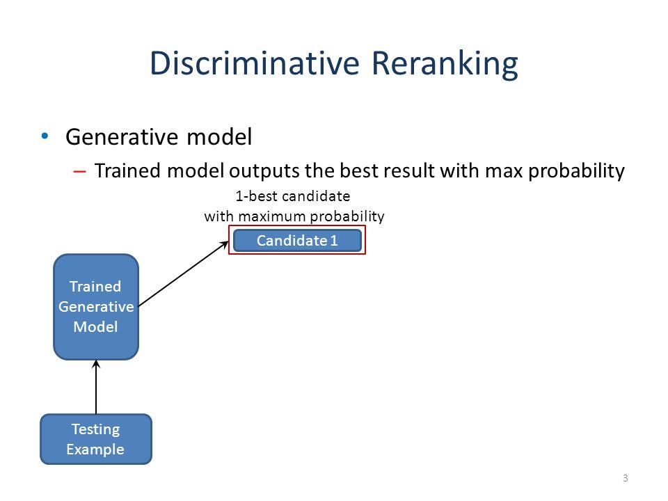 Discriminative Reranking Can we do better.