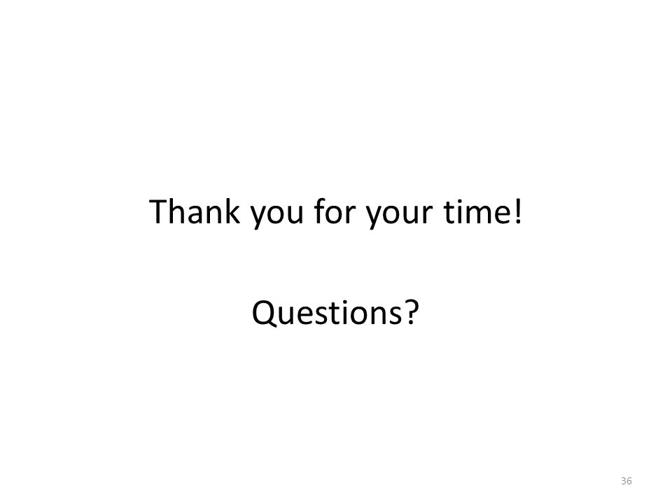 Thank you for your time! Questions 36