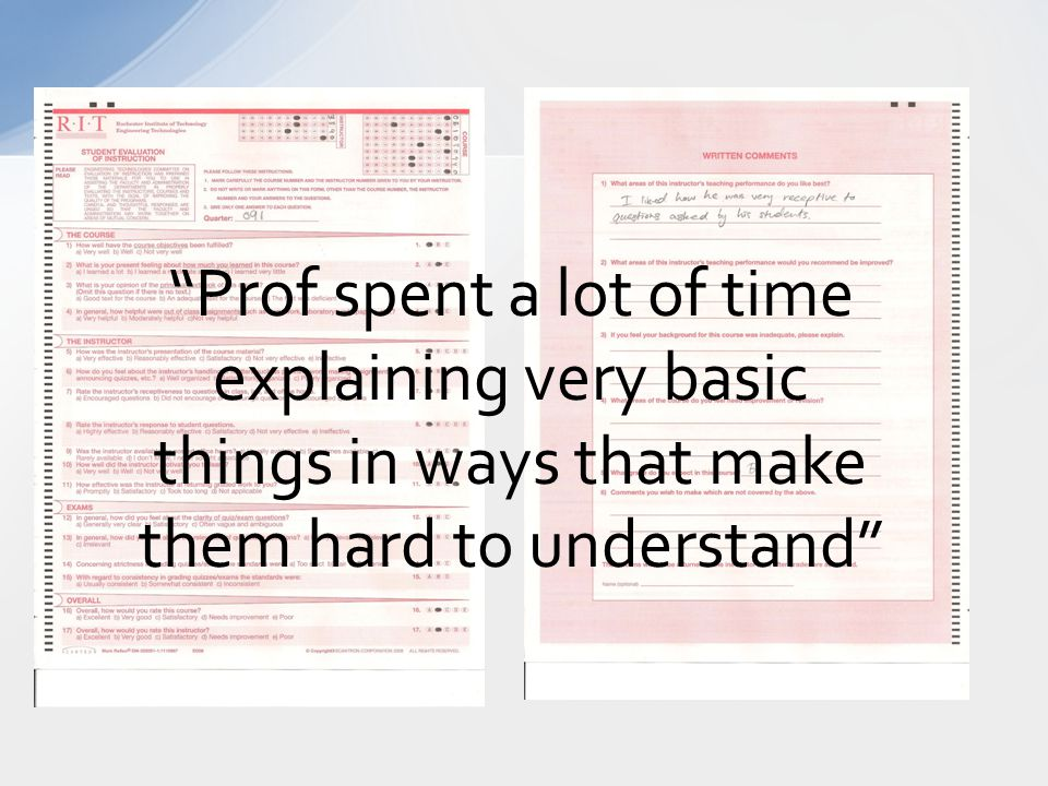 Prof spent a lot of time explaining very basic things in ways that make them hard to understand