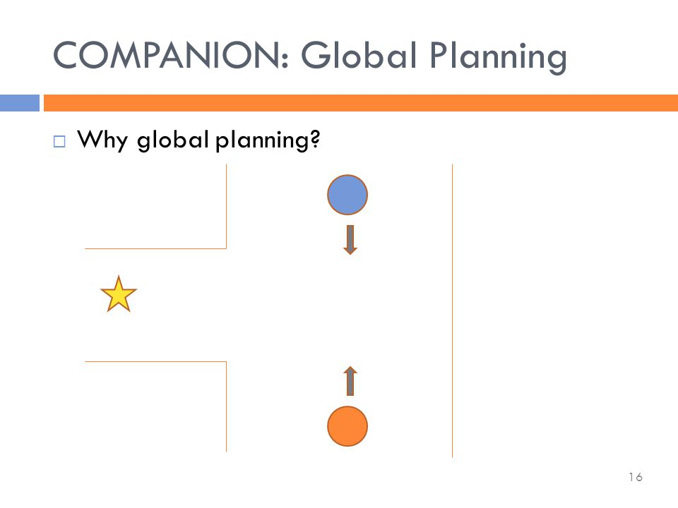  Why global planning COMPANION: Global Planning 16