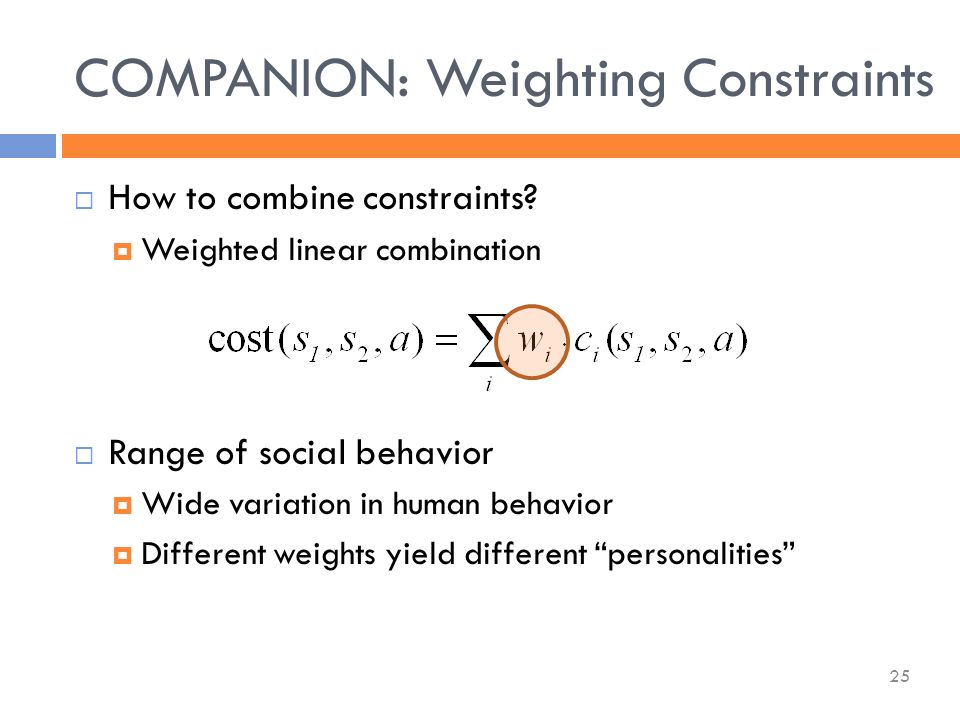  How to combine constraints.