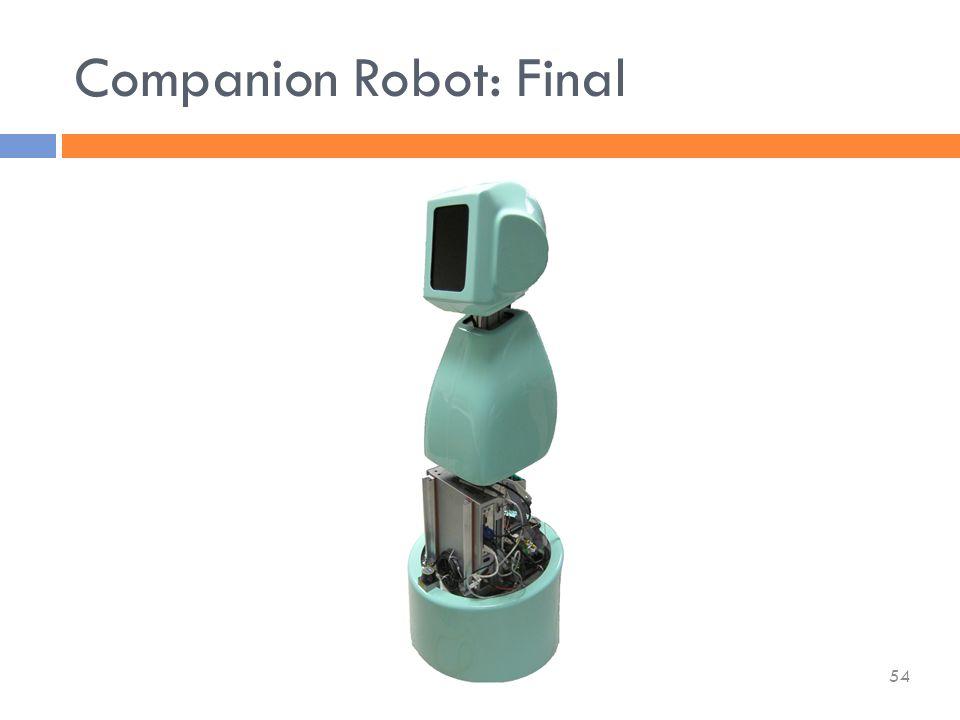 Companion Robot: Final 54