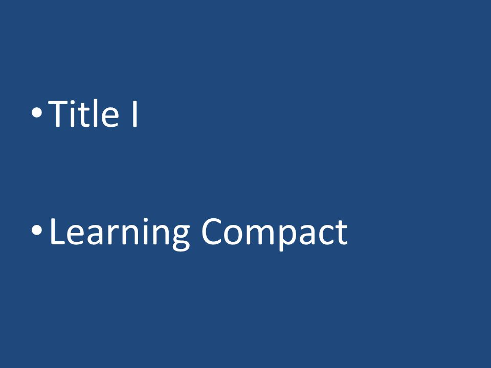 Title I Learning Compact