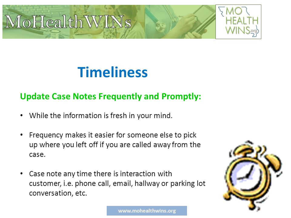 www.mohealthwins.org Professionalism Avoid using slang, street language, clichés or jargon.