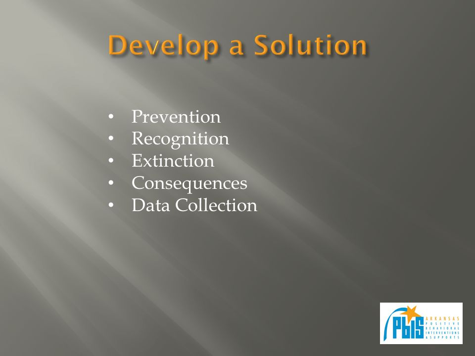 Prevention Recognition Extinction Consequences Data Collection