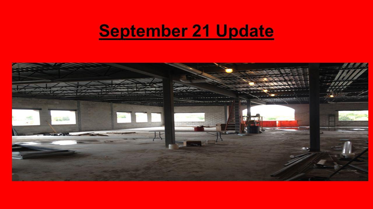 September 21 Update