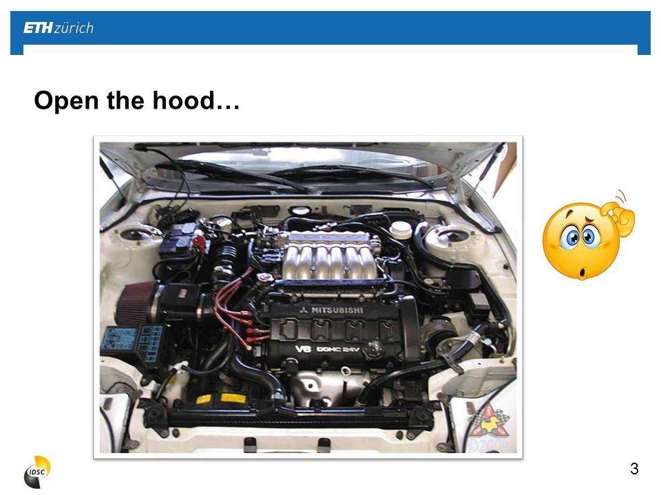 3 Open the hood…