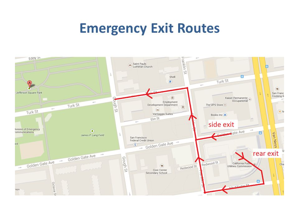 Emergency Exit Routes