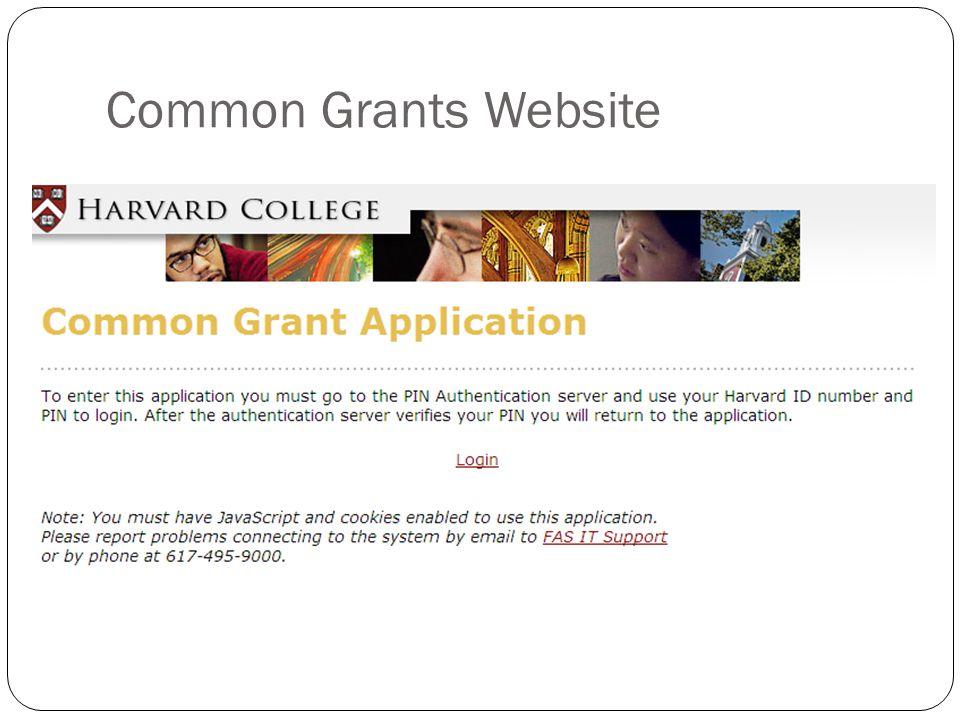 Common Grants Website