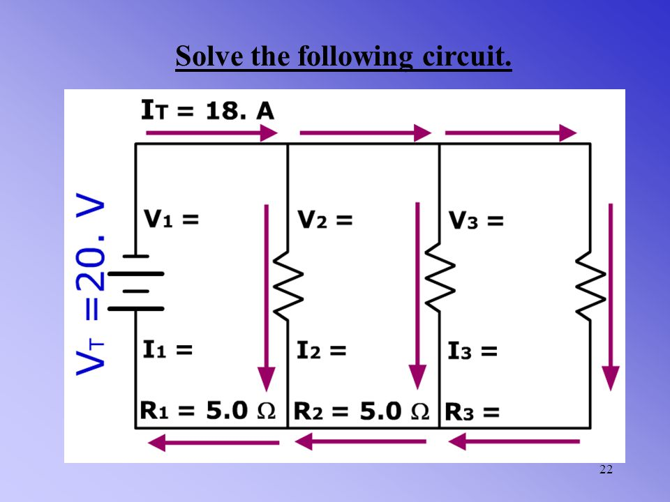 21 Find the total current of the given parallel circuit