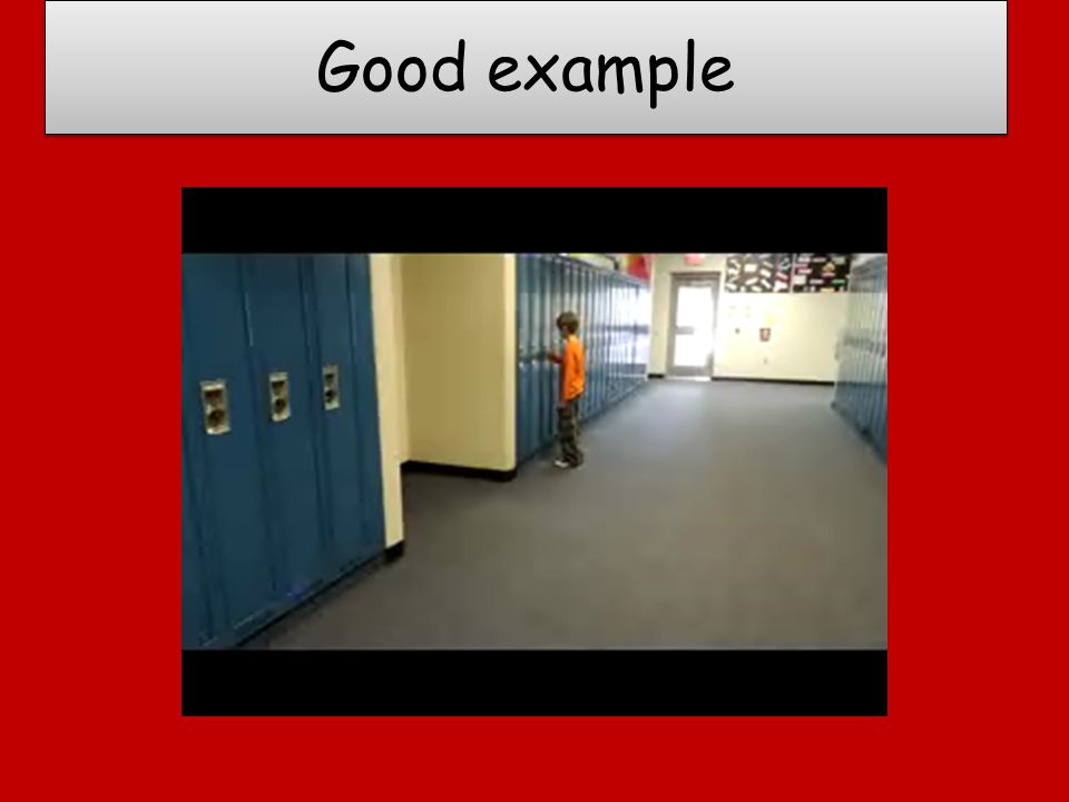 Good example