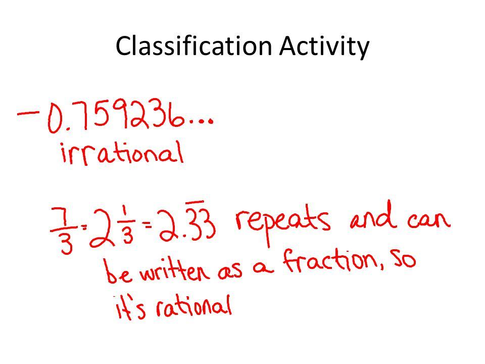 Classification Activity