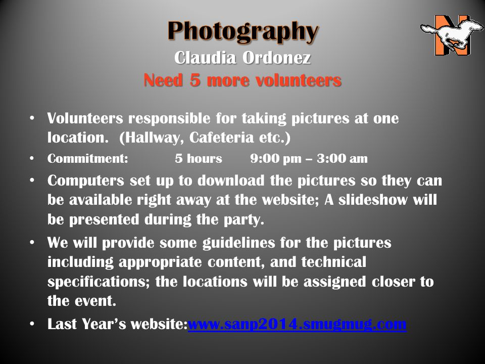 Volunteers responsible for taking pictures at one location.
