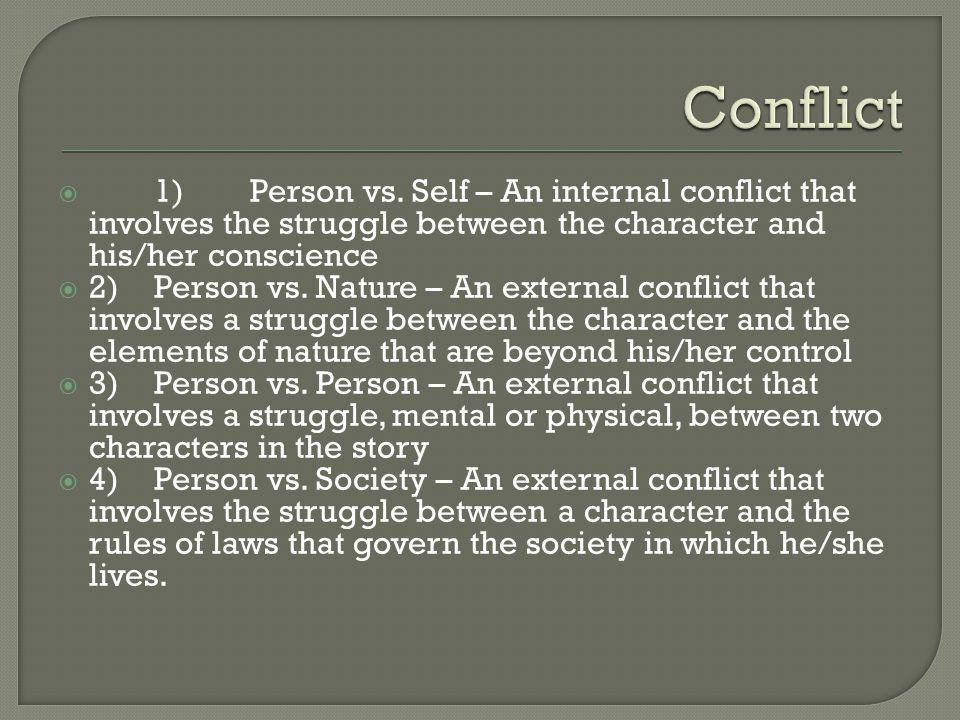  1)Person vs.