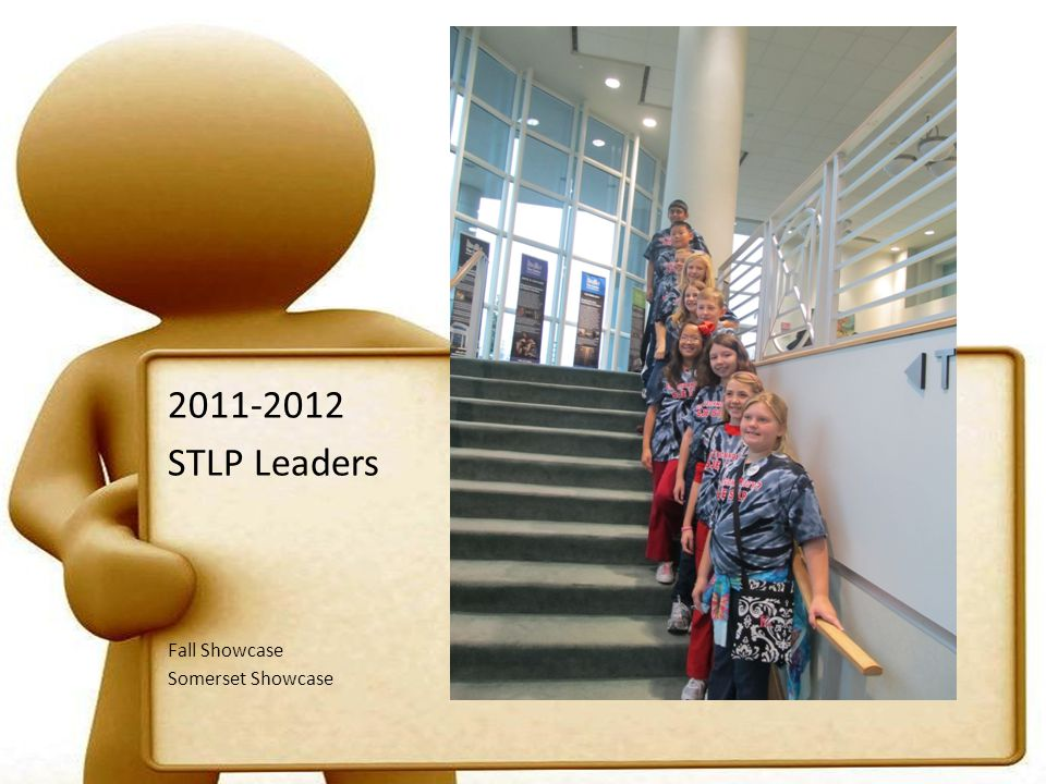 Student Technology Leadership Program Mission and Goals The Mission of the Student Technology Leadership Program (STLP tm ) is to advance the individual capabilities of students; to motivate all students; and to create leadership opportunities through the use of technology.