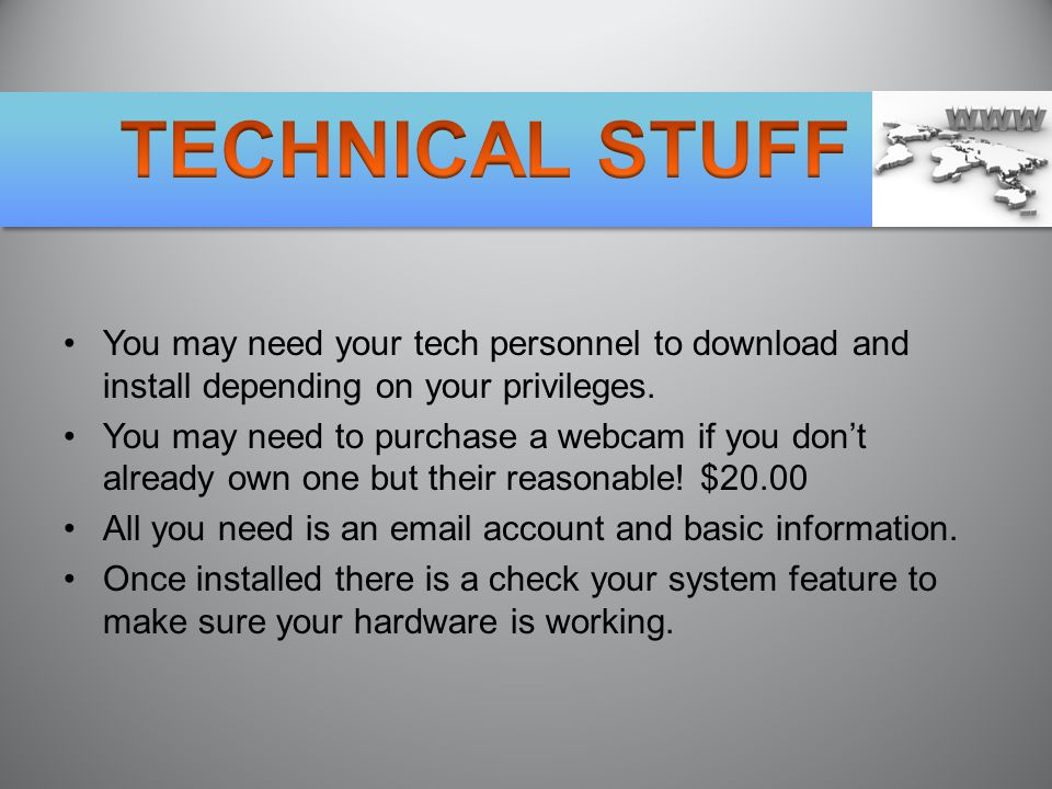 You may need your tech personnel to download and install depending on your privileges.