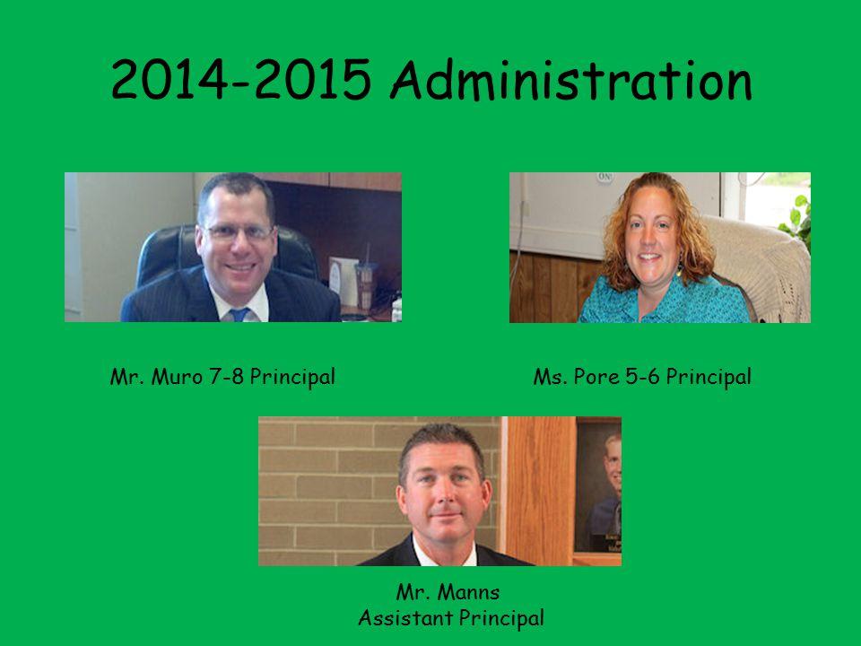 2013-2014 Building Administration Mr. Tom Wolff, Principal Miss Renee Pore, Assistant Principal