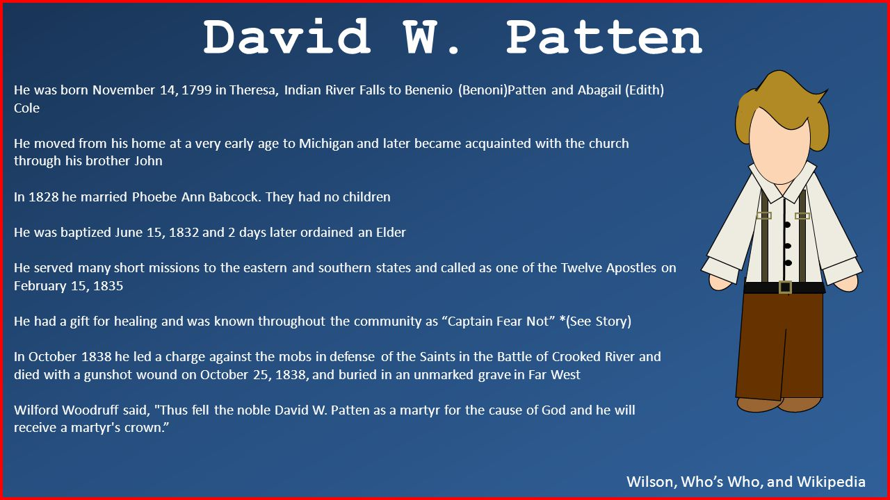 Wilson, Who's Who, and Wikipedia David W.
