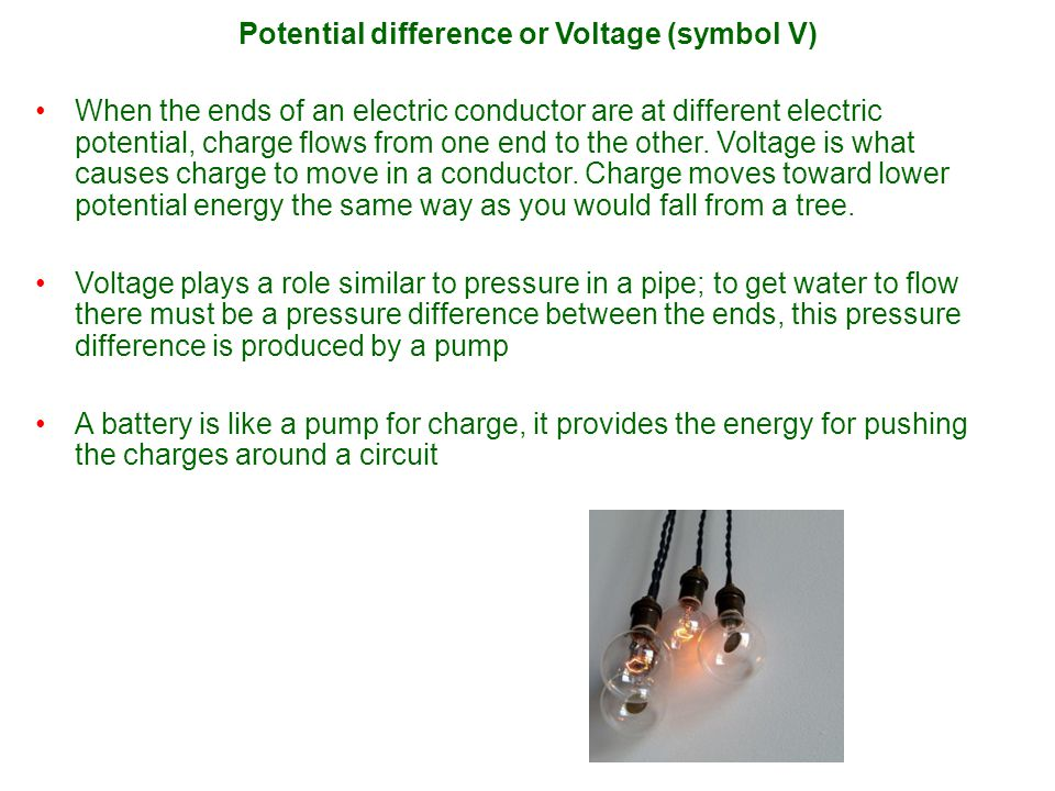 Voltage and current are not the same thing You can have voltage, but without a path (connection) there is no current.You can have voltage, but without a path (connection) there is no current.