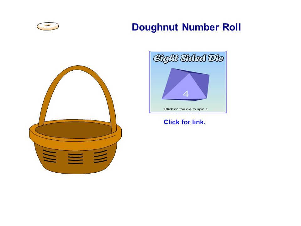 Doughnut Number Roll Click for link.