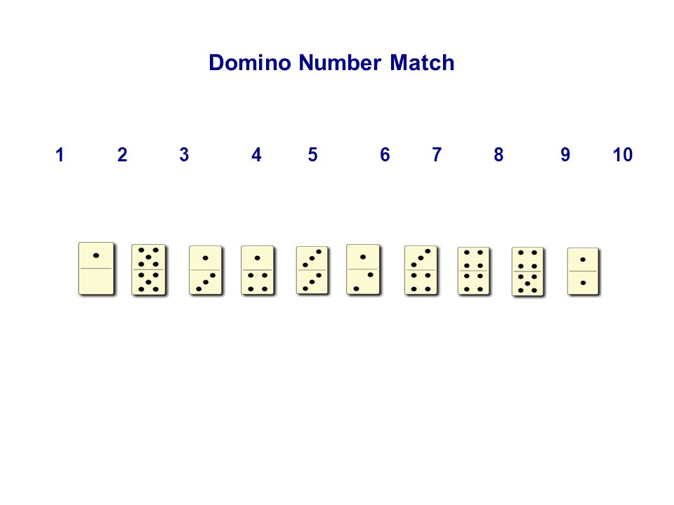 Domino Number Match 1 2 3 4 5 6 7 8 9 10