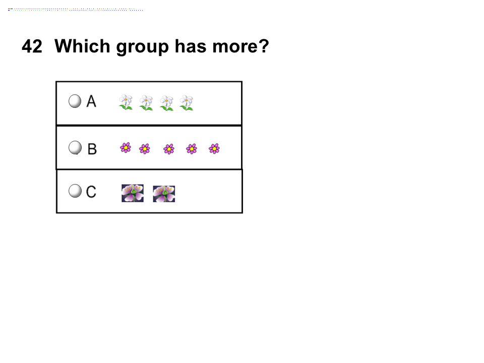 Which group has more 42