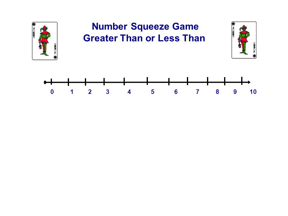 0 1 2 3 4 5 6 7 8 9 10 Number Squeeze Game Greater Than or Less Than