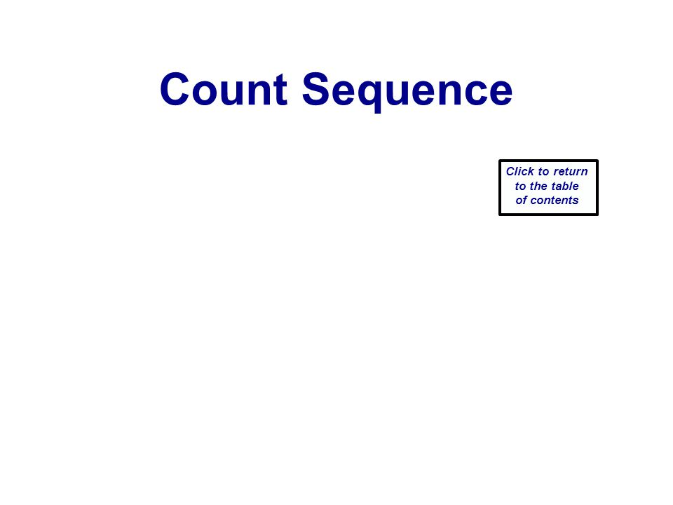 Count Sequence Click to return to the table of contents