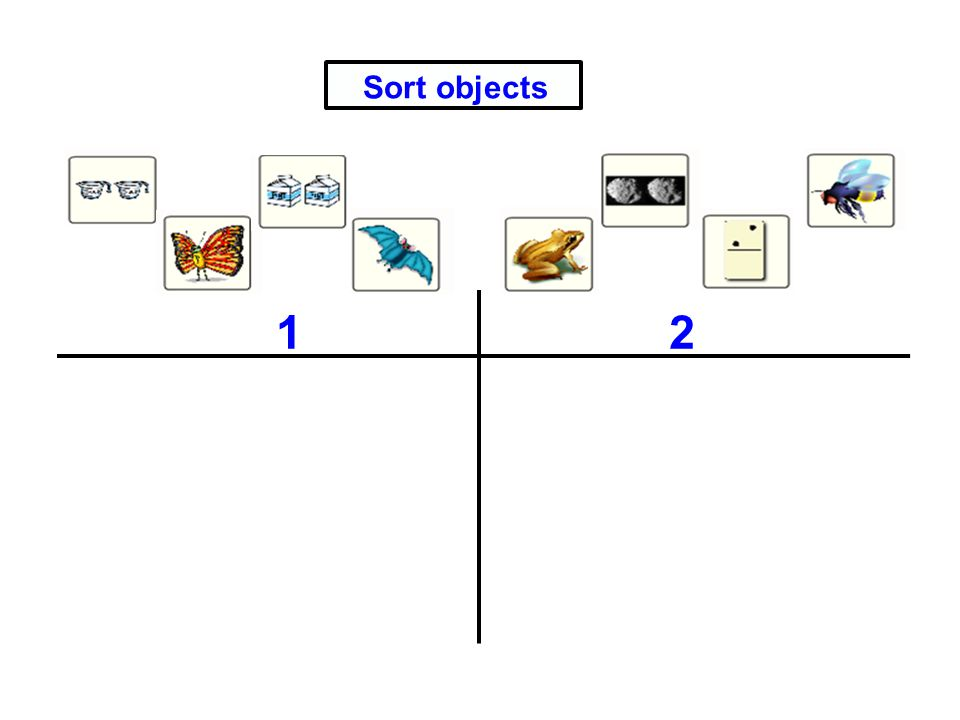 Sort objects 1 2