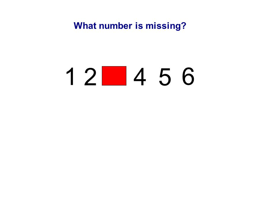 1 2 3 4 5 6 What number is missing