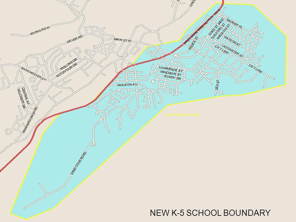 NEW K-5 SCHOOL BOUNDARY