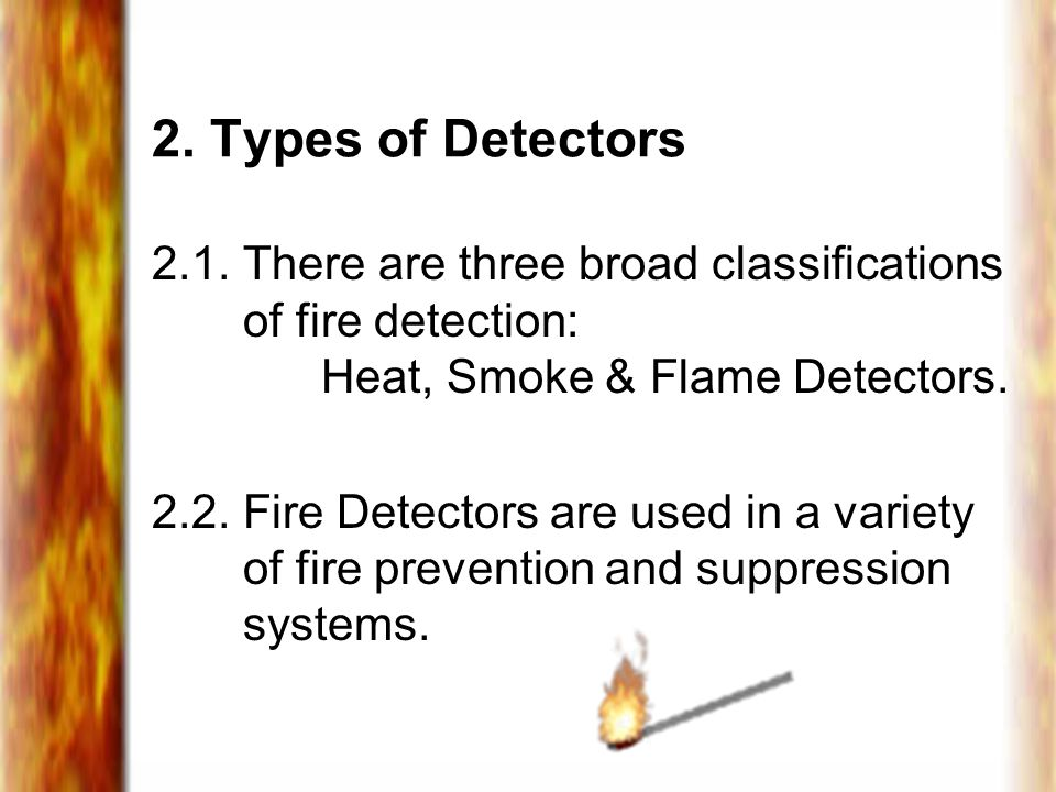 2.Types of Detectors 2.1.