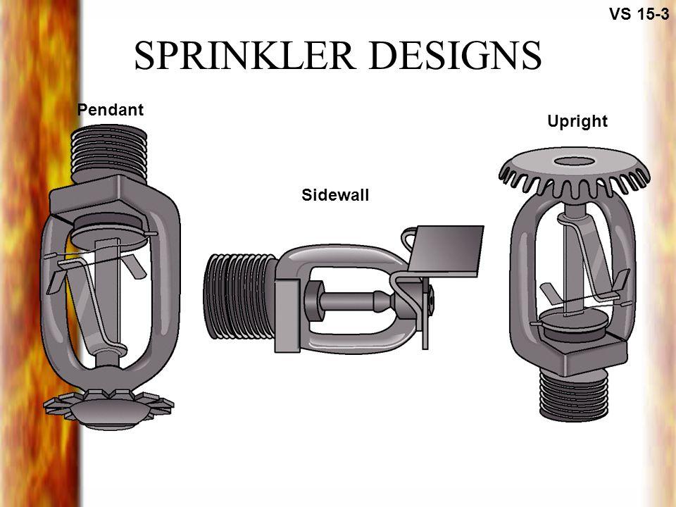 SPRINKLER DESIGNS VS 15-3 Pendant Sidewall Upright