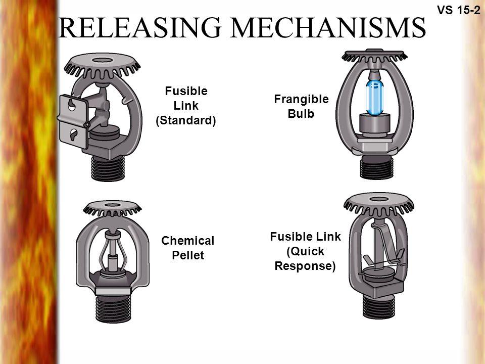 RELEASING MECHANISMS VS 15-2 Fusible Link (Standard) Chemical Pellet Frangible Bulb Fusible Link (Quick Response)