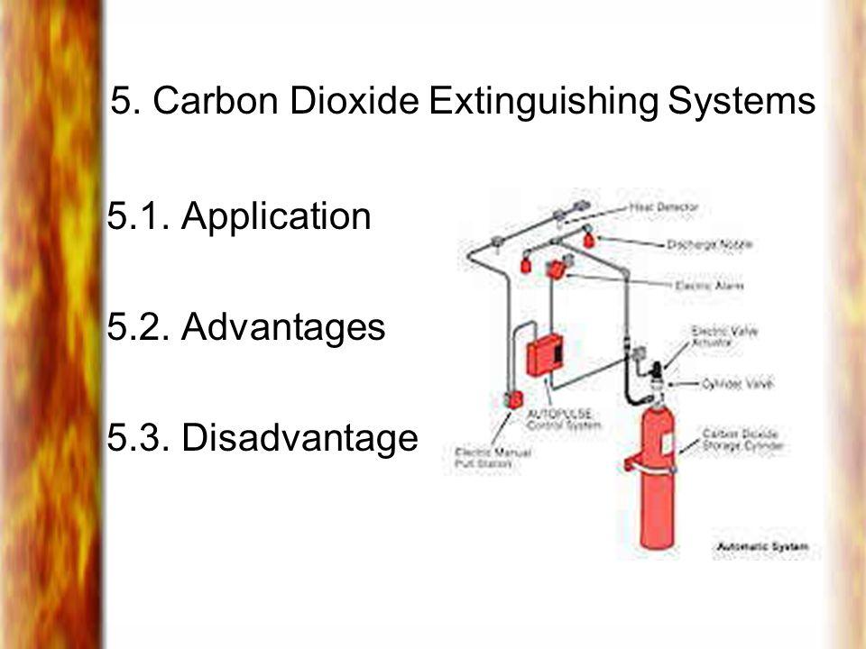 5. Carbon Dioxide Extinguishing Systems 5.1. Application 5.2. Advantages 5.3. Disadvantage
