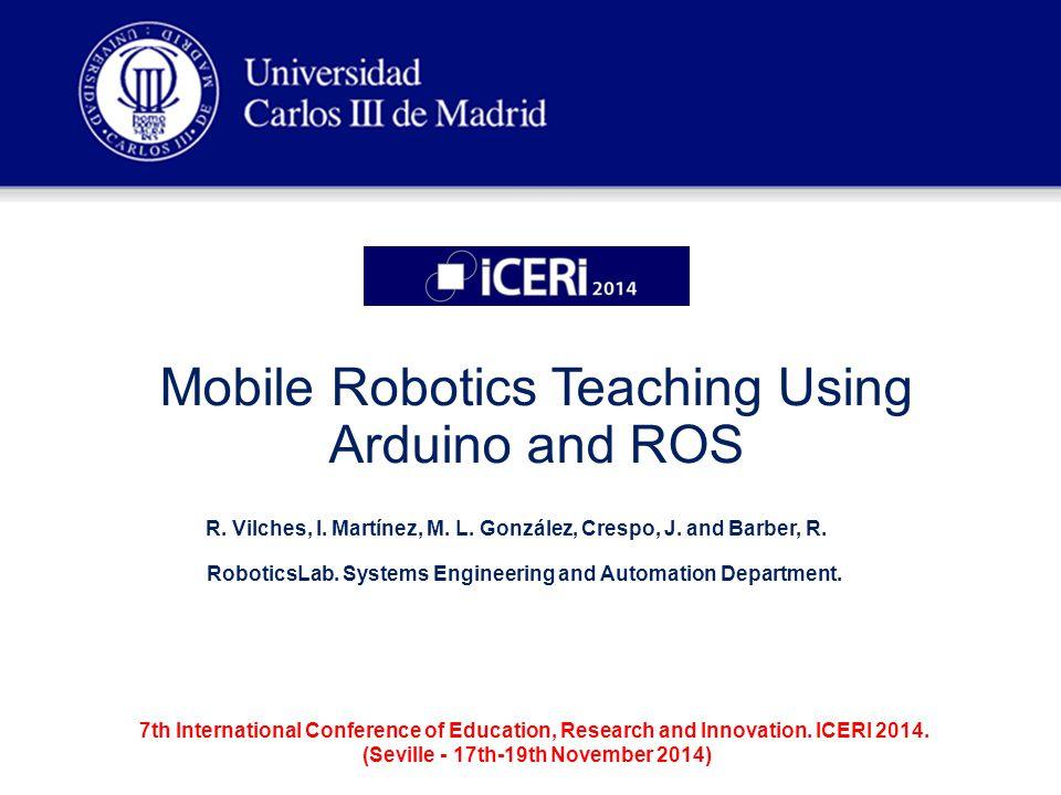 Universidad Carlos III de Madrid ROS & Arduino ROS architecture working.