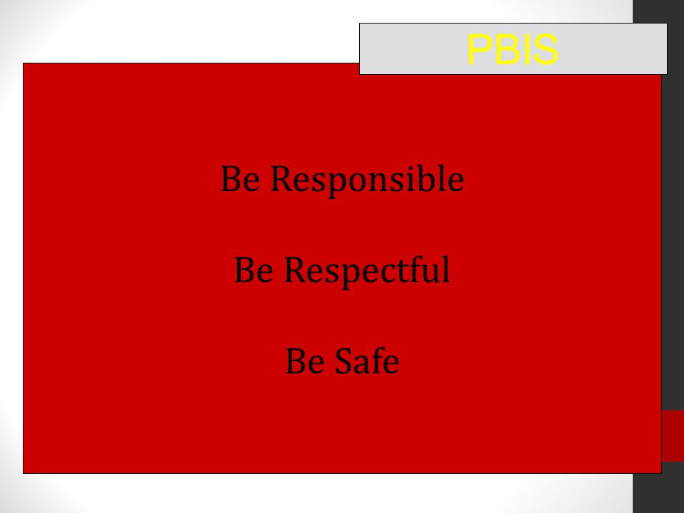 Be Responsible Be Respectful Be Safe PBIS