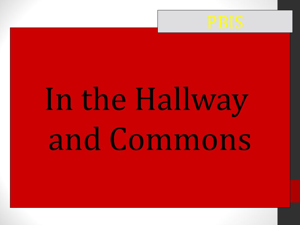 In the Hallway and Commons PBIS