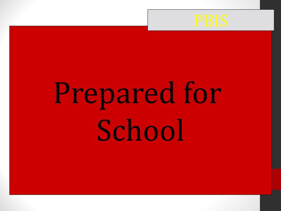 Prepared for School PBIS