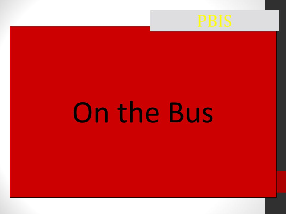 On the Bus PBIS