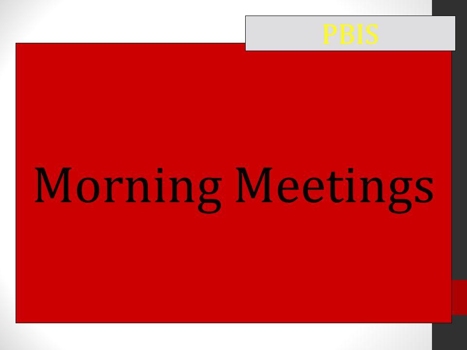 Morning Meetings PBIS
