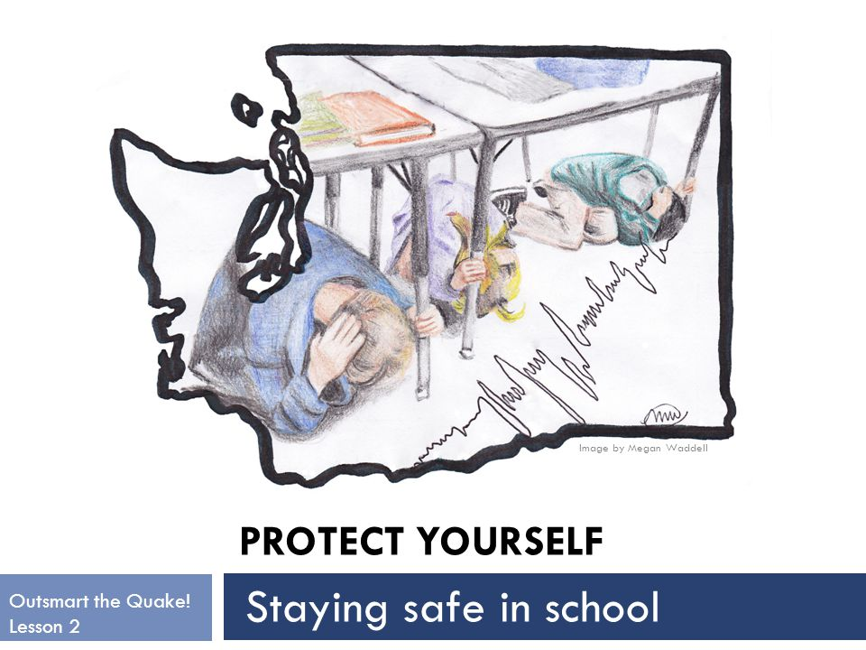 PROTECT YOURSELF Image by Megan Waddell Outsmart the Quake! Lesson 2 Staying safe in school