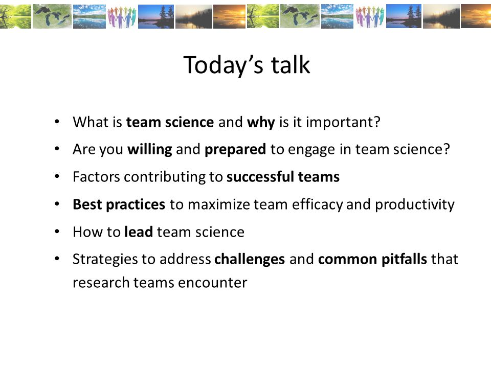 What is team science and why is it important.
