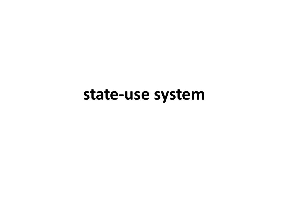 state-use system