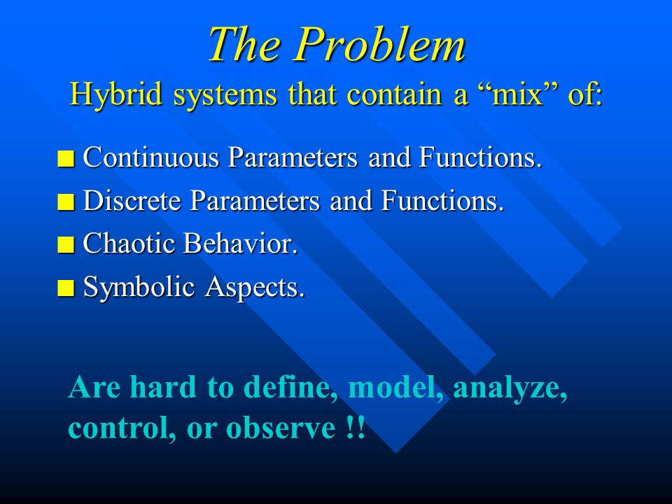 Discrete Event and Hybrid Systems Prof.